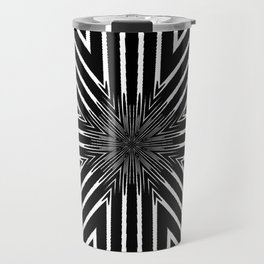 Tribal Black and White African-Inspired Pattern Travel Mug