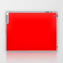 ff0000 Bright Red Laptop & iPad Skin
