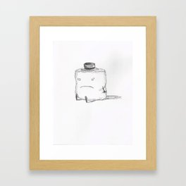 Sad Shmallow Framed Art Print