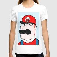super mario T-shirts featuring Super Mario by Di Leo Comics
