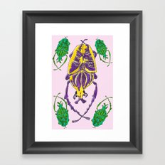 Bugs Pattern Framed Art Print