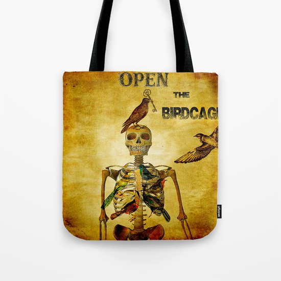 Open the Birdcage Tote Bag