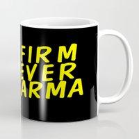 karma Mugs featuring Karma.  by JessicaSzymanski