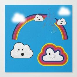 The Great Rainbow Cloud Robbery Canvas Print