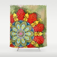 tequila Shower Curtains featuring Tequila Sunrise by Renee Ciufo