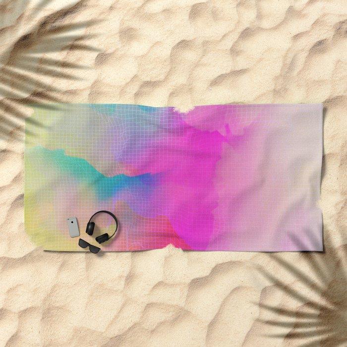 Glitch 17 Beach Towel