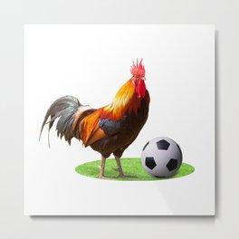 Cock Soccer Metal Print