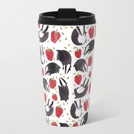 Badgers and Strawberries Travel Mug
