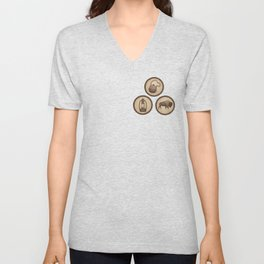 Go Explore! Patches Unisex V-Neck