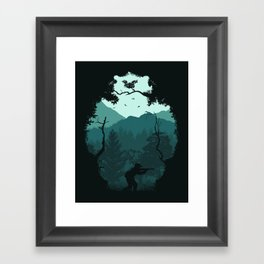 Hunting Season - Blue Framed Art Print