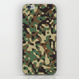 Military camouflage pattern iPhone Skin