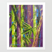 Bamboo by Pallet Knife Art Print
