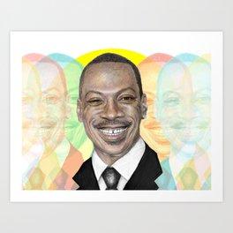 in celebration of Eddie Murphy laughing Art Print
