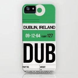 DUB Dublin Luggage Tag 1 iPhone Case