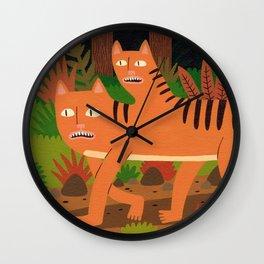 Two-headed Cat Wall Clock