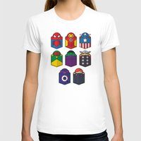 pocket T-shirts featuring World's mightiest pocket heroes by Steven Toang