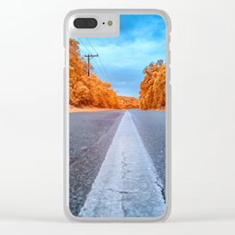 Infrared Road Clear iPhone Case