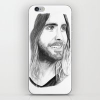jared leto iPhone & iPod Skins featuring Jared Leto by Art by Cathrine Gressum