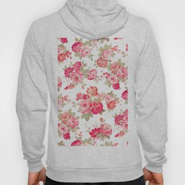 Elise shabby chic on white Hoody