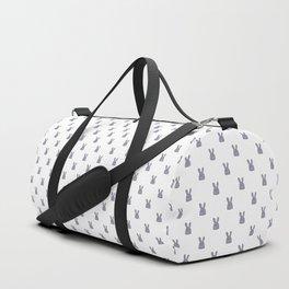 Pile of bunnies - white Duffle Bag