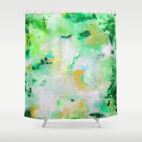 monet Shower Curtains featuring Monet by acrylikate