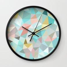 Pastel Tris Wall Clock