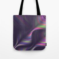 novelty Tote Bags featuring Novelty Waves 2 by Mario De Meyer