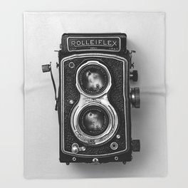 Rolliflex Camera Throw Blanket