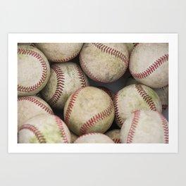 Many Baseballs - Background pattern Sports Illustration Art Print