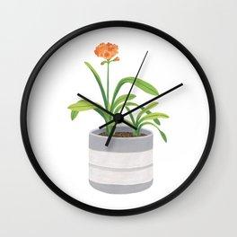 Clivia miniata Wall Clock