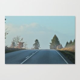 behind the hill Canvas Print