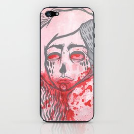 pink zombie love iPhone Skin