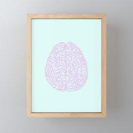 Pastel Brain Framed Mini Art Print