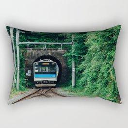 Tunnel Train Rectangular Pillow