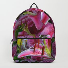 Pink Lilies by Teresa Thompson Backpack