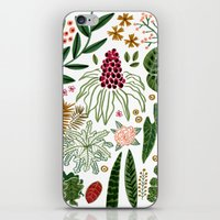 plants iPhone & iPod Skins featuring Plants by Roxanne Bee
