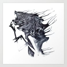 A Forest's Darkness Art Print