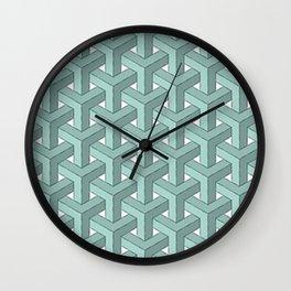 Goyard Cheveron Pattern Wall Clock