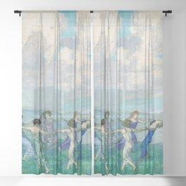 Franz Stuck - Circle Dancing Sheer Curtain
