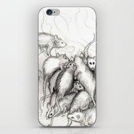 Rats Feeding on Milk iPhone Skin