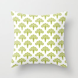 Floral Pattern Chartreuse 241 Throw Pillow