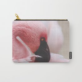 Resting Flamingo Carry-All Pouch