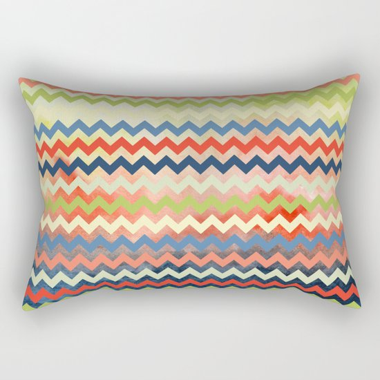 Watercolor Chevron Rectangular Pillow