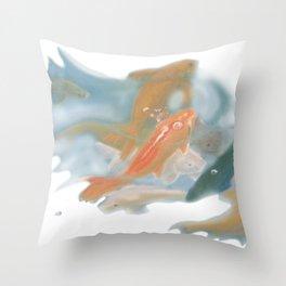 koi {white} Throw Pillow