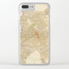 Vintage Map of Mount Vernon NY (1893) Clear iPhone Case
