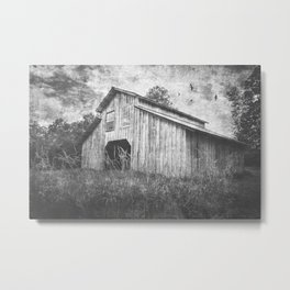 Country Barn B&W Metal Print