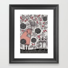 Winter Garden Framed Art Print