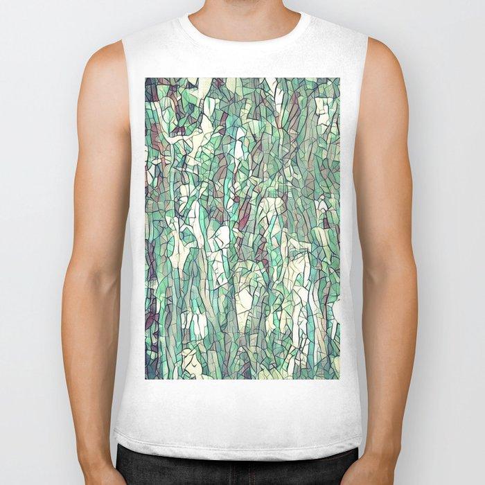 Abstract green Biker Tank