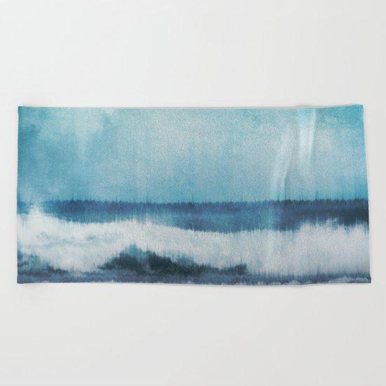 Wave Glitch 1 Beach Towel
