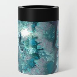 Teal Agate Can Cooler
